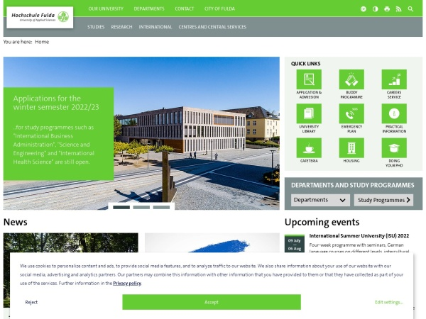 Screenshot of www.hs-fulda.de