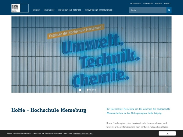 Screenshot of www.hs-merseburg.de