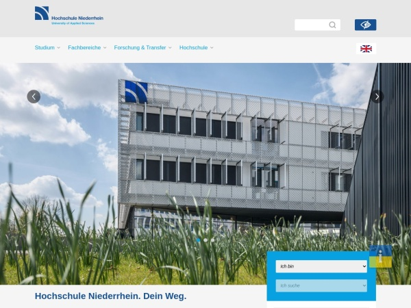 Screenshot of www.hs-niederrhein.de