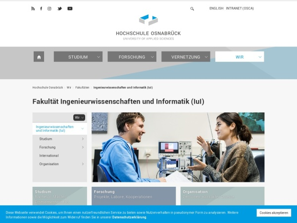 Screenshot of www.hs-osnabrueck.de