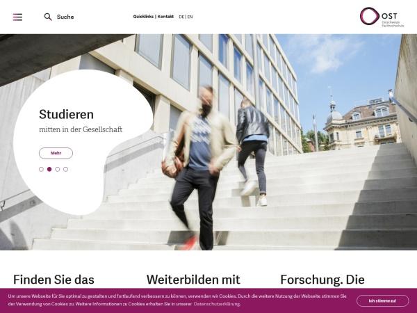 Screenshot of www.hsr.ch