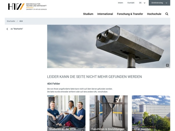 Screenshot of www.htw-dresden.de