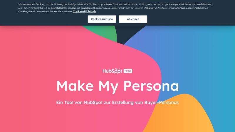 Screenshot von www.hubspot.de