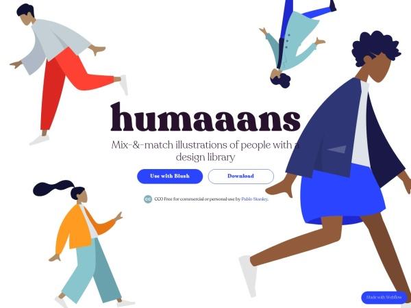 Screenshot of www.humaaans.com