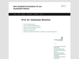 Prof. Dr. Sebastian Boecker - humboldt.nz