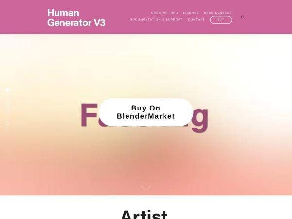 Screenshot of www.humgen3d.com