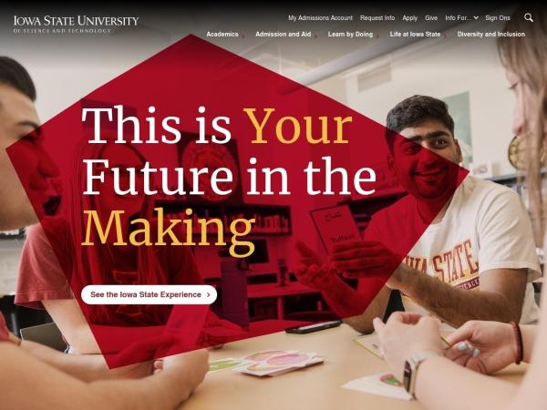 Screenshot of www.iastate.edu