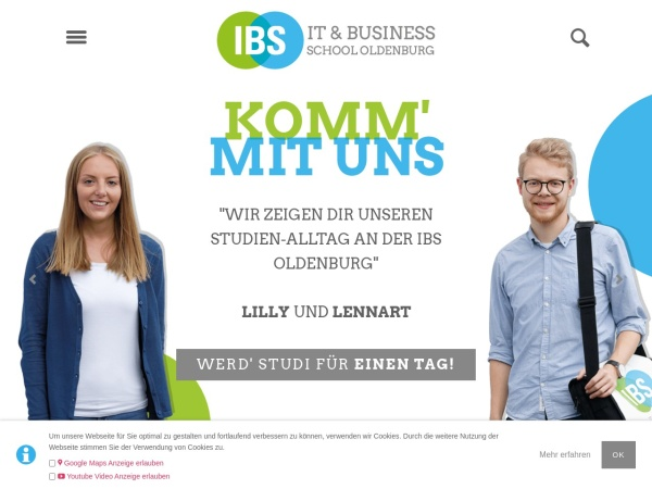 Screenshot of www.ibs-ol.de
