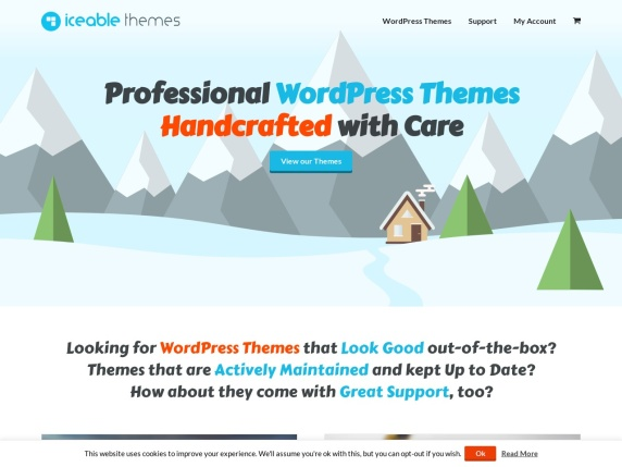 Iceable Themes homepage