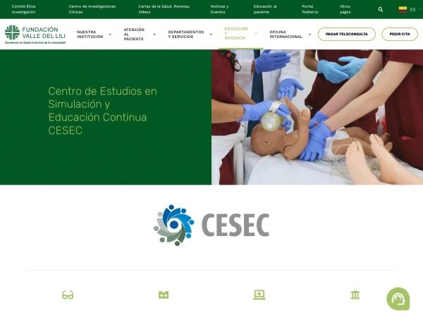Captura de pantalla de www.icesi.edu.co