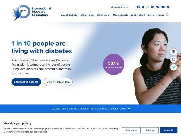 Screenshot of www.idf.org