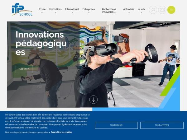 Screenshot of www.ifp-school.com