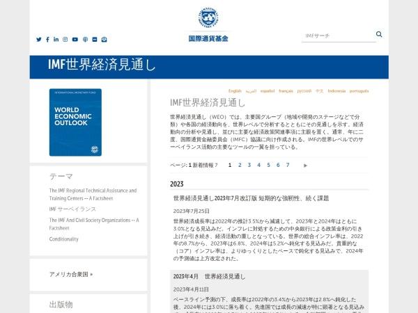 Screenshot of www.imf.org
