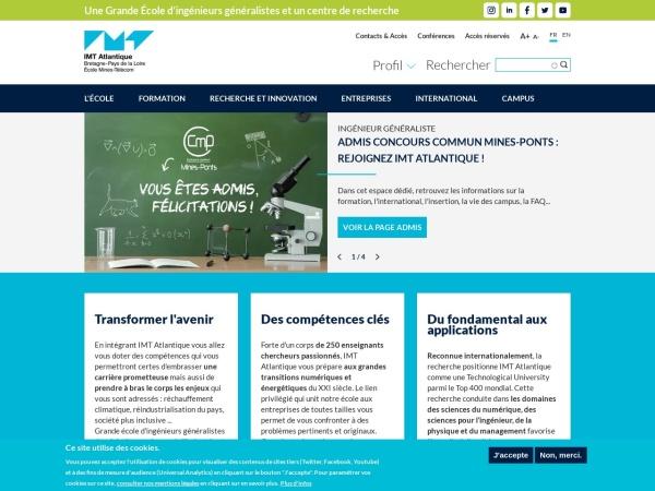 Screenshot of www.imt-atlantique.fr