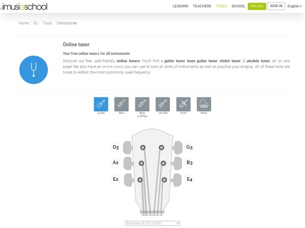 Screenshot of www.imusic-school.com