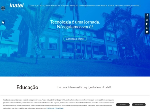 Screenshot of www.inatel.br