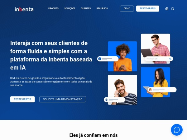 Screenshot of www.inbenta.com