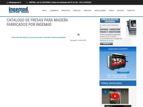 Captura de pantalla de www.ingemad.cl