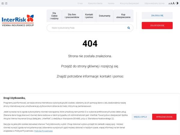 Screenshot of www.interrisk.pl