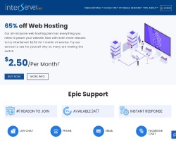 Captura de pantalla de www.interserver.net