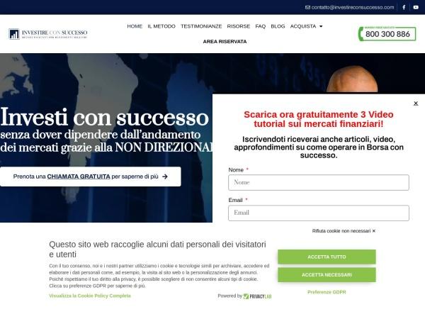 Screenshot of www.investireconsuccesso.com