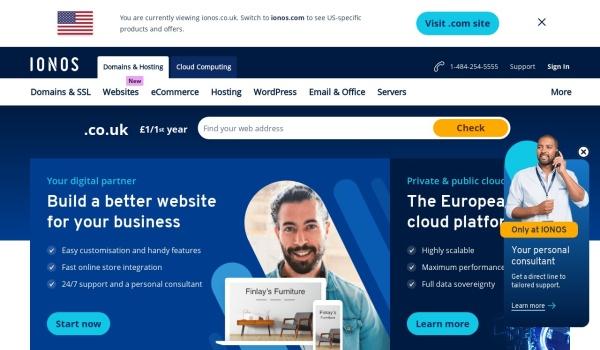 Screenshot of www.ionos.co.uk