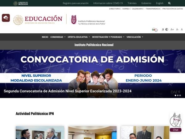 Screenshot of www.ipn.mx