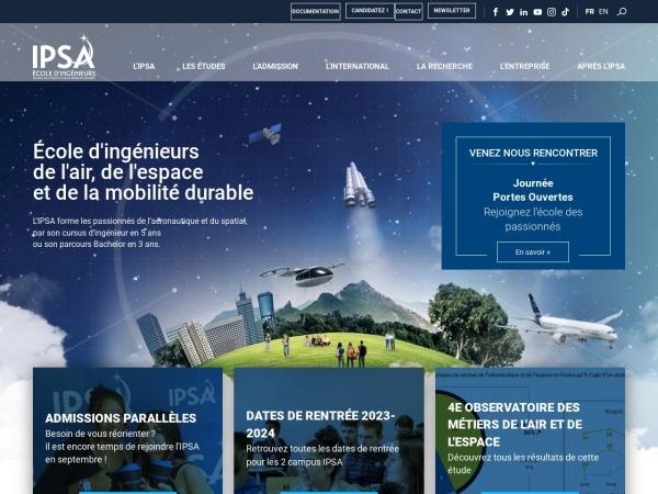 Screenshot of www.ipsa.fr