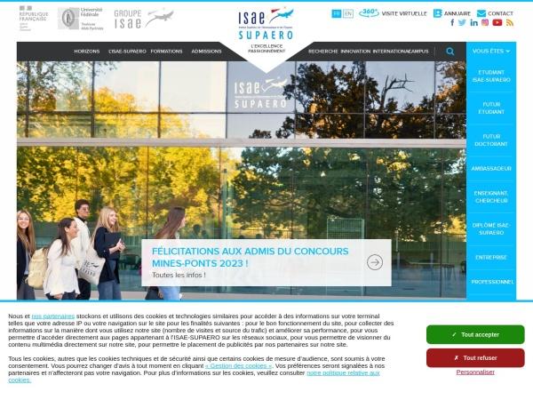 Screenshot of www.isae-supaero.fr
