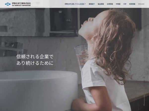 Screenshot of www.isechem.co.jp