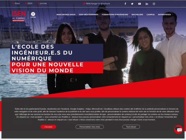 Screenshot of www.isen-mediterranee.fr