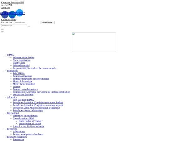 Screenshot of www.isima.fr