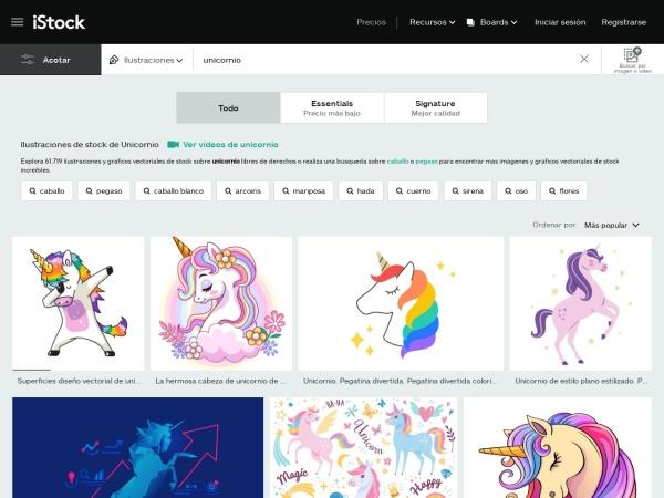 Captura de pantalla de www.istockphoto.com