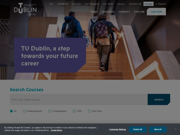 Screenshot of www.itb.ie