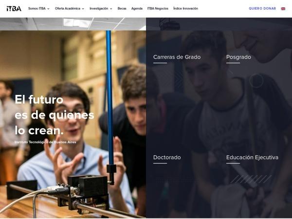 Screenshot of www.itba.edu.ar