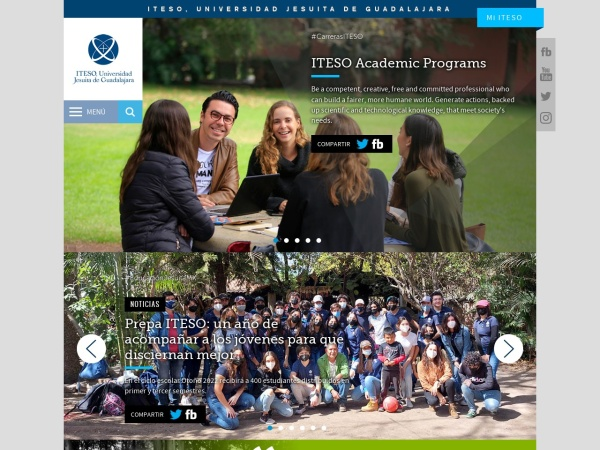 Screenshot of www.iteso.mx