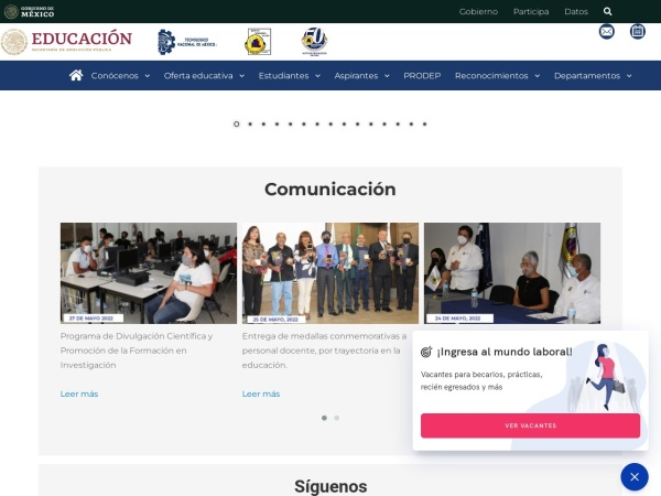 Screenshot of www.itleon.edu.mx