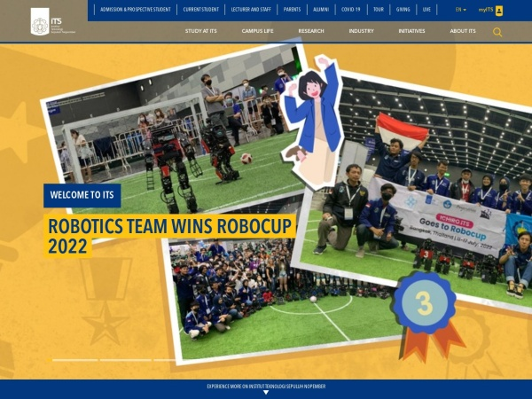 Screenshot of www.its.ac.id