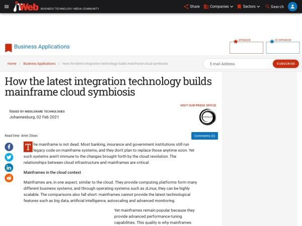 Screenshot of www.itweb.co.za