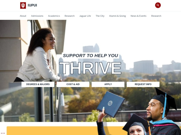Screenshot of www.iupui.edu