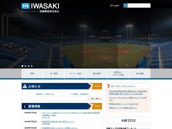 Screenshot of www.iwasaki.co.jp