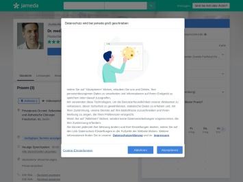 Screenshot von www.jameda.de