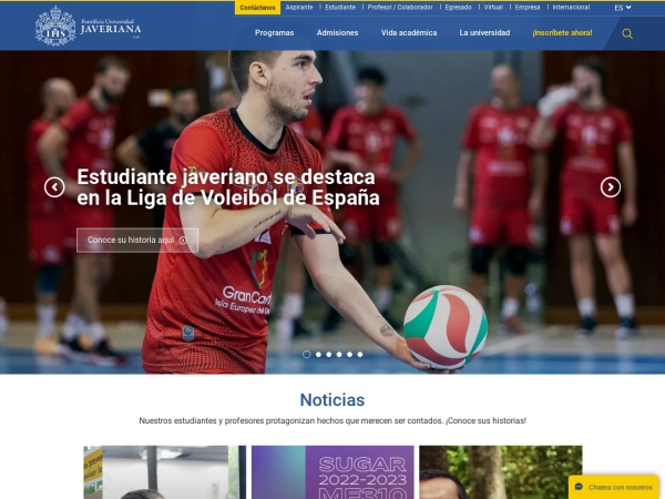 Screenshot of www.javerianacali.edu.co