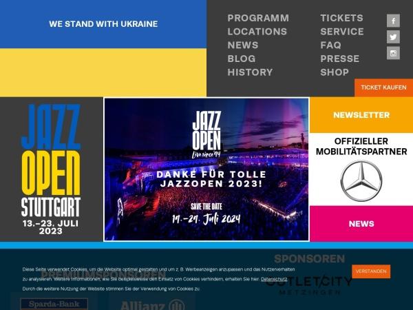 Screenshot von www.jazzopen.com