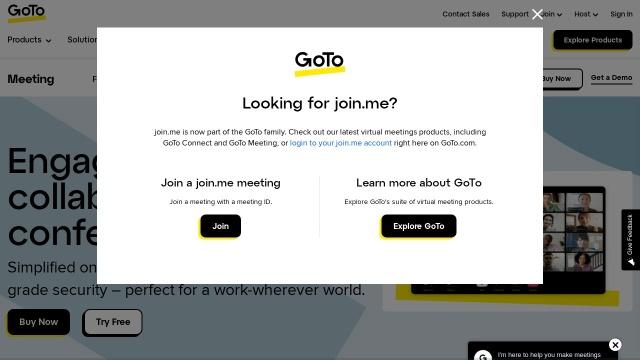 Screenshot of www.join.me