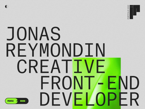 Screenshot of www.jonasreymondin.com
