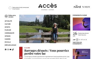 Screenshot of www.journalacces.ca