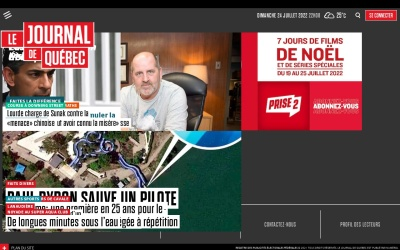 Screenshot of www.journaldequebec.com