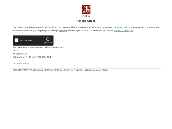 Screenshot of www.jstor.org