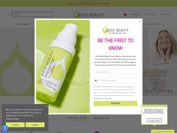 Screenshot of www.juicebeauty.com